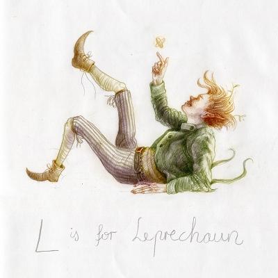 Лепрекон. Рисунок Яны Хейдерсдорф