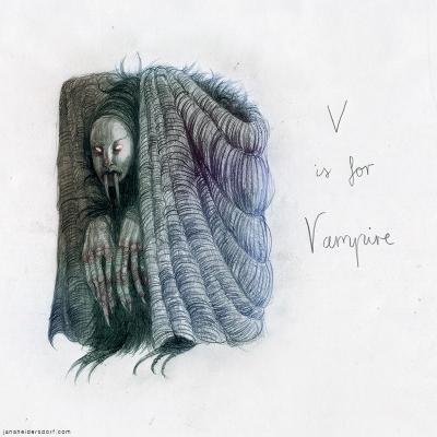 Вампир. Рисунок Яны Хейдерсдорф