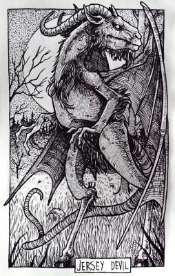Джерсийский дьявол. Иллюстрация Дарека Кшака (DK13Design)