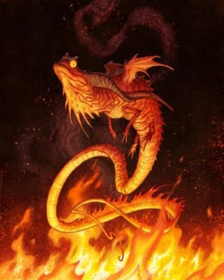 Саламандра. Иллюстрация Юхана Эгеркранса