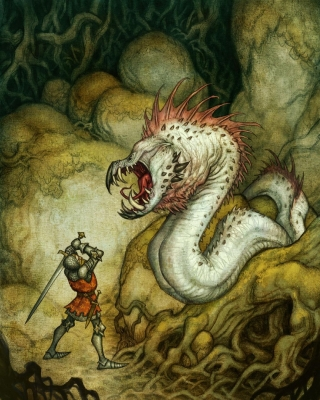 Линдворм. Иллюстрация Юхана Эгеркранса
