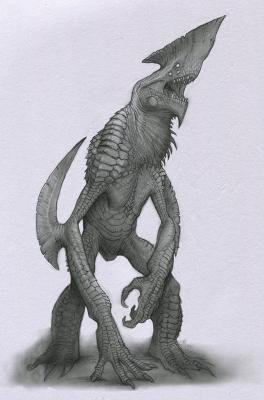 Кайдзю. Иллюстрация Анастасиоса Гиониса
