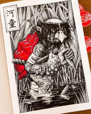 Каппа. Иллюстрация Ксении Штайнер