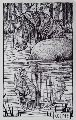 Келпи. Иллюстрация Дарека Кшака (DK13Design)