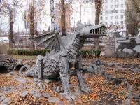 Дракон во дворике ресторана Урарту в Харькове
