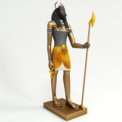 Бог Хепри. 3D модель