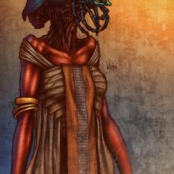 Женщина из расы Хепри. Фан-арт от artmunki
