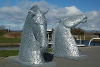 """""""Келпи"""". Макет статуи в Эдинбурге"""
