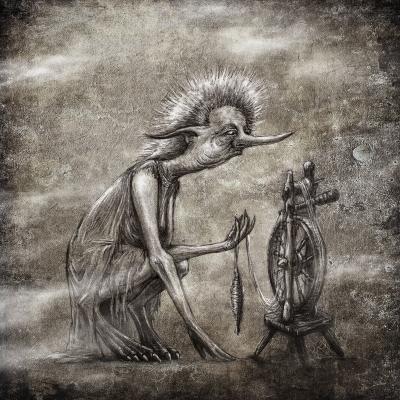 Кикимора. Рисунок Евгения Кота