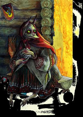 Кикимора. Иллюстрация Лидии Магоновой (Ink-Yami)