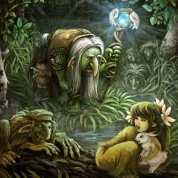 Кикимора болотная. Иллюстрация Владимира Аржевитина
