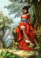 Китайская лисица-оборотень. Иллюстрация Фейон Ченя (Feihong Chen)