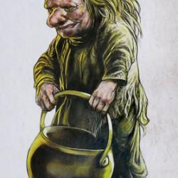 """Кобольд. Иллюстрация из книги """"Мифические существа"""""""