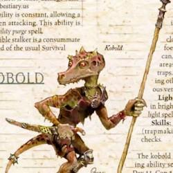 Кобольт из бестиария AD&D