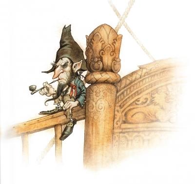 Корабельный ниссе. Иллюстрация Юхана Эгеркранса