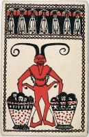 Открытка с с изображением Крампуса, 1907 год