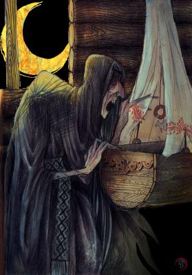 Крикса. Иллюстрация Лидии Магоновой (Ink-Yami)