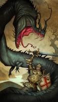 Лэмбтонский червь. Иллюстрация Юхана Эгеркранса