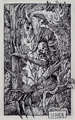 Леший. Иллюстрация Дарека Кшака (DK13Design)