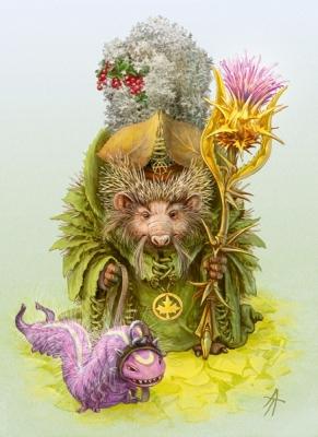 Листовик-лесавка. Иллюстрация Владимира Аржевитина