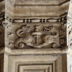 Линдвормы (барельеф на Дворце дожей, Венеция)