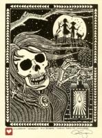 Ла Йорона. Гравюра Дэна Энгера из серии Nuevo Mexico Macabre