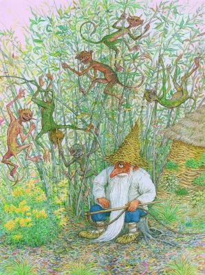 Лозавик и лозники. Иллюстрация Валерия Славука