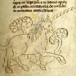 Единорог (Рукопись Моргановской библиотеки в Нью-Йорке Manuscript. M.890, fol. 6r.)