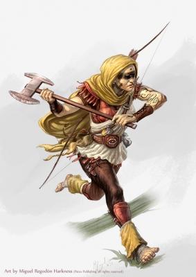 Охотник на людей. Иллюстрация Мигеля Регодона Харкнесса (Miguel Regodón Harkness) к сеттингу Pathfinder