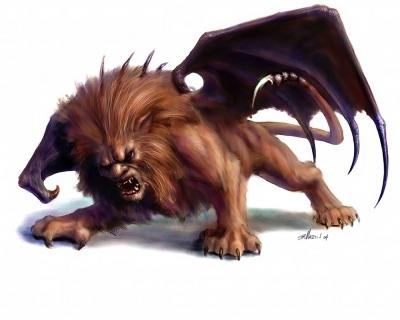 Мантикора. Иллюстрация Бритта Мартина к бестиарию сеттинга Warhammer Fantasy Roleplay
