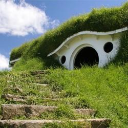 Сохранившиеся декорации Хоббитона в Матамата (Новая Зеландия)