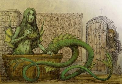 Мелюзина (Meluzyna). Иллюстрация Павла Зыха (Paweł Zych)