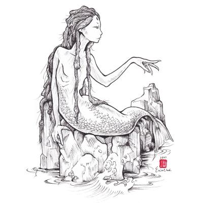 Русалка. Рисунок Эрики Вард (Erica Ward)