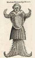 """Морской монах. Иллюстрация Улисса Альдрованди из """"Monstrorum historia"""""""