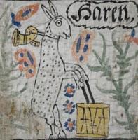 Молочный заяц. Настенное изображение, конец XVIII века, провинция Смоланд, Швеция