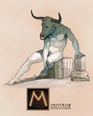 "Минотавр. Иллюстрация Натана Андерсона (Nathan J. Anderson, ""Deimos-Remus"")"