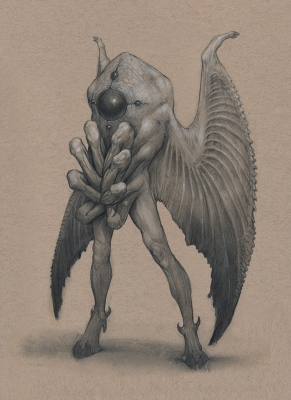 Человек-мотылёк. Иллюстрация Анастасиоса Гиониса