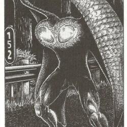 Человек-мотылёк. Рисунок Дэна Вулфмана Аллена