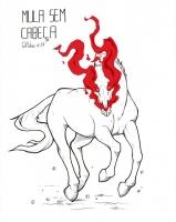 Безголовый мул (Mula-Sem-Cabeça). Рисунок Лорены Эрреро (HETthePumpking)