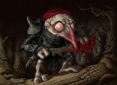 Кровожадный Красный колпак. Иллюстрация Дейва Олсопа