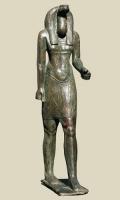Бог-змея Нехебкау. Египетская статуэтка периода Птолемеев (664-630 годы до н.э.)