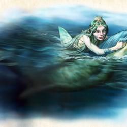"""Нереида. Иллюстрация Ника Харриса из книги """"Мифические существа"""""""