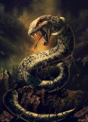Nidhogg Tearer of Corpses. Иллюстрация Гонсало Ордонеса Ариаса