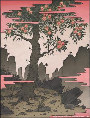 Нинмэндзю (Дзинмэндзю). Иллюстрация Мэтью Мэйера