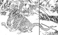 """Номори-муси. Рисунок Такэбэ Аятари из книги """"Манъюки"""" (漫遊記, 1798)"""