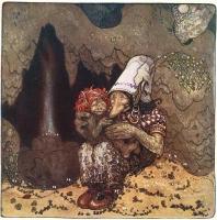 Троллиха с детенышем. Иллюстрация Йона Бауэра