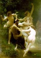 Нимфы и сатир. Картина Адольфа Вильяма Бугро (1873)