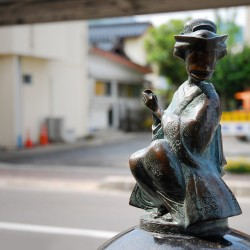 Охагуро-Бэттари. Статуя на улице Шигеру Мизуки