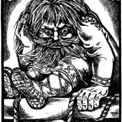 Овинник. Иллюстрация Надежды Антиповой