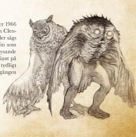 Человек-сова (owlman) и человек-мотылёк (mothman). Иллюстрация Кристофера Гюстафссона